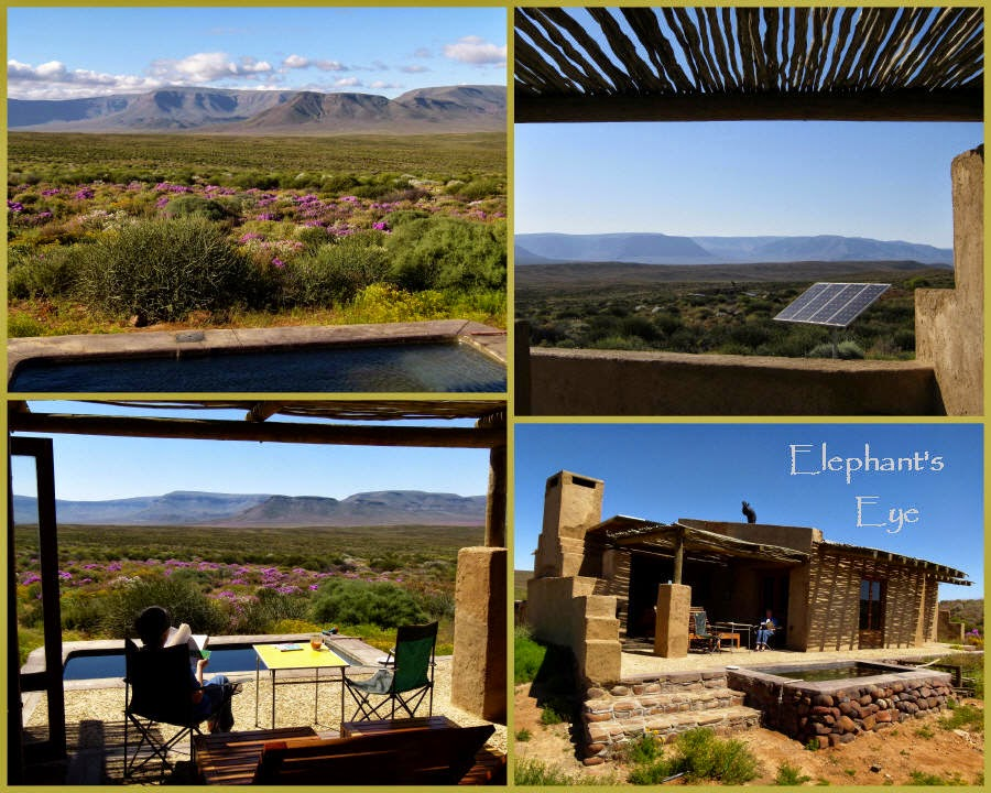 Plunge pool at Elandsberg cottages in the Tankwa Karoo
