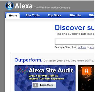 Cara Melihat Page Rank Blog Dengan Alexa