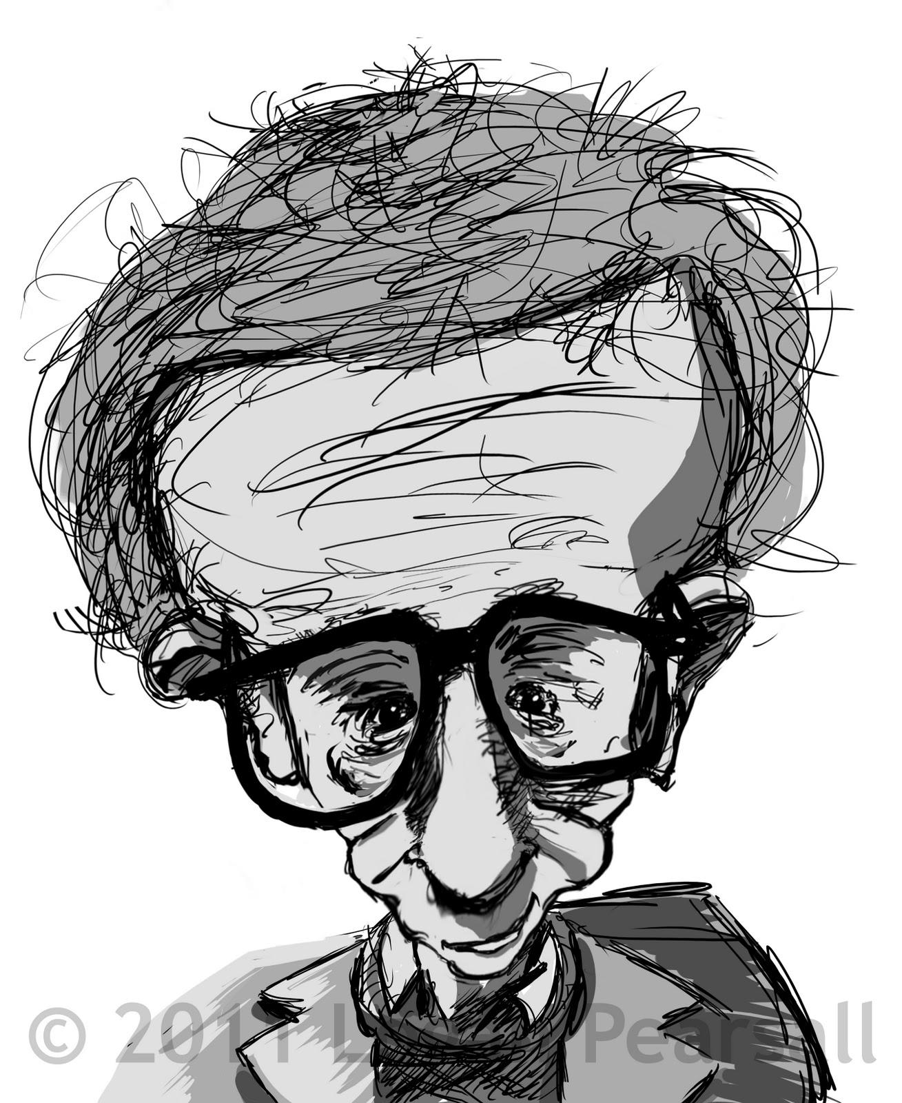 Logan Drawings Woody Allen Caricature Wip