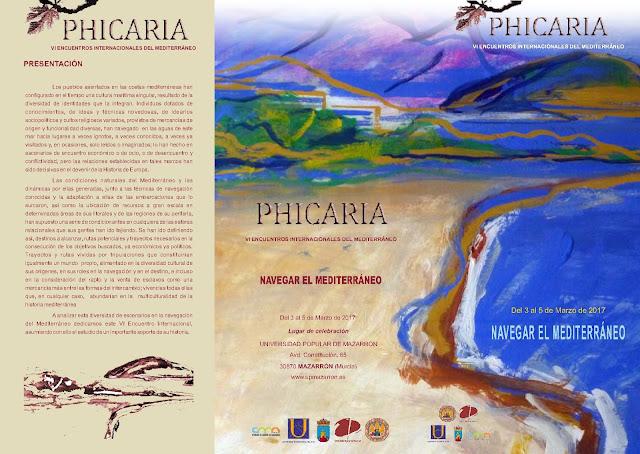 """VI Encuentro Internacional de estudios del Mediterráneo. PHICARIA: """"Navegar el Mediterráneo""""."""