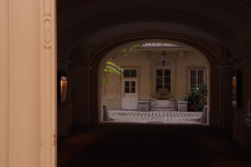 Häuser, Straßen und Innenhöfe Wiens