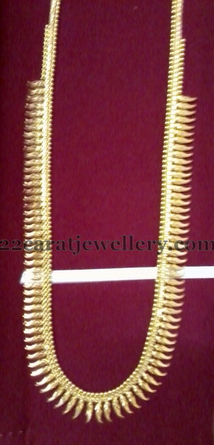 Mullamottu Mala 32 Grams Jewellery Designs