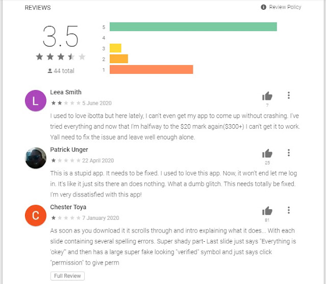 Reviews of ibotta app
