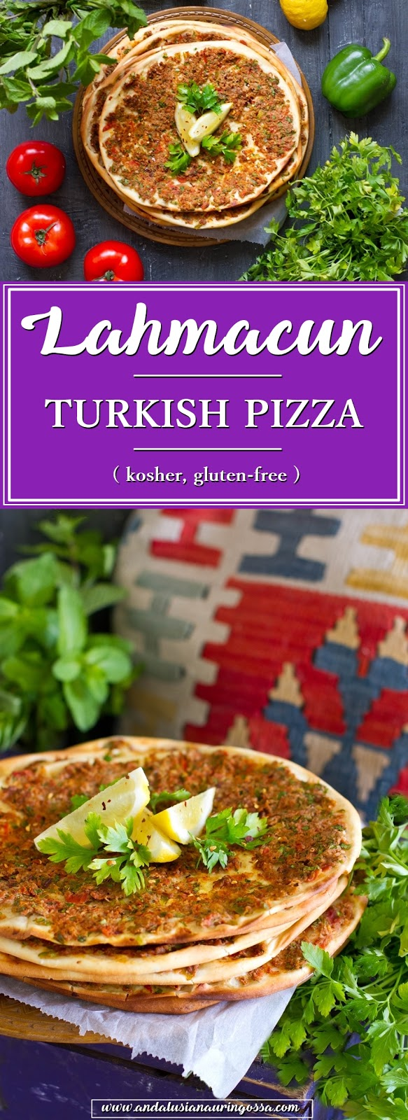 Lahmacun_Turkish pizza_turkish street food_recipe_kosher_glutenfree_Under the Andalusian Sun_foodblog_travelblog_PIN ME
