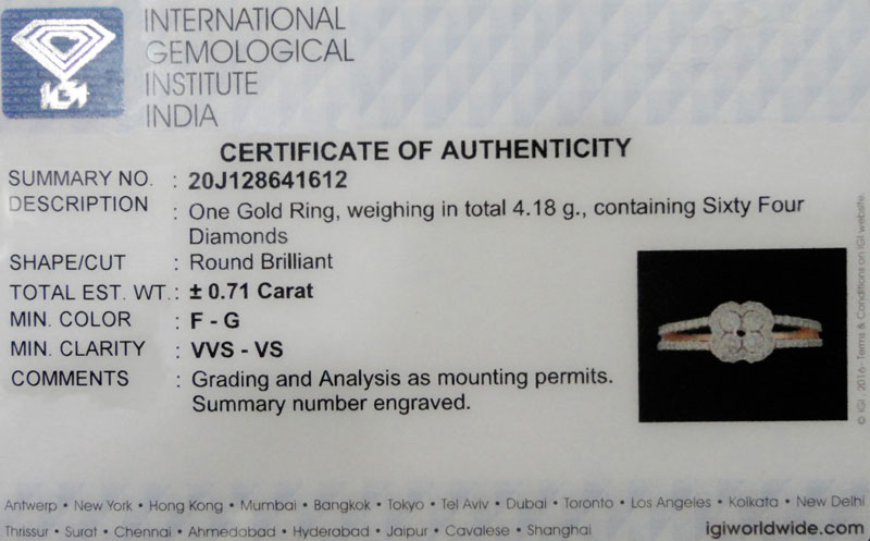 Verifying Your IGI Certified Jewellery