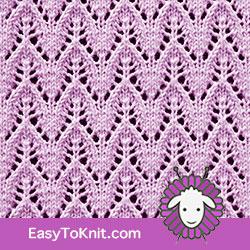 #Knit Eyelet Lace Pattern 80