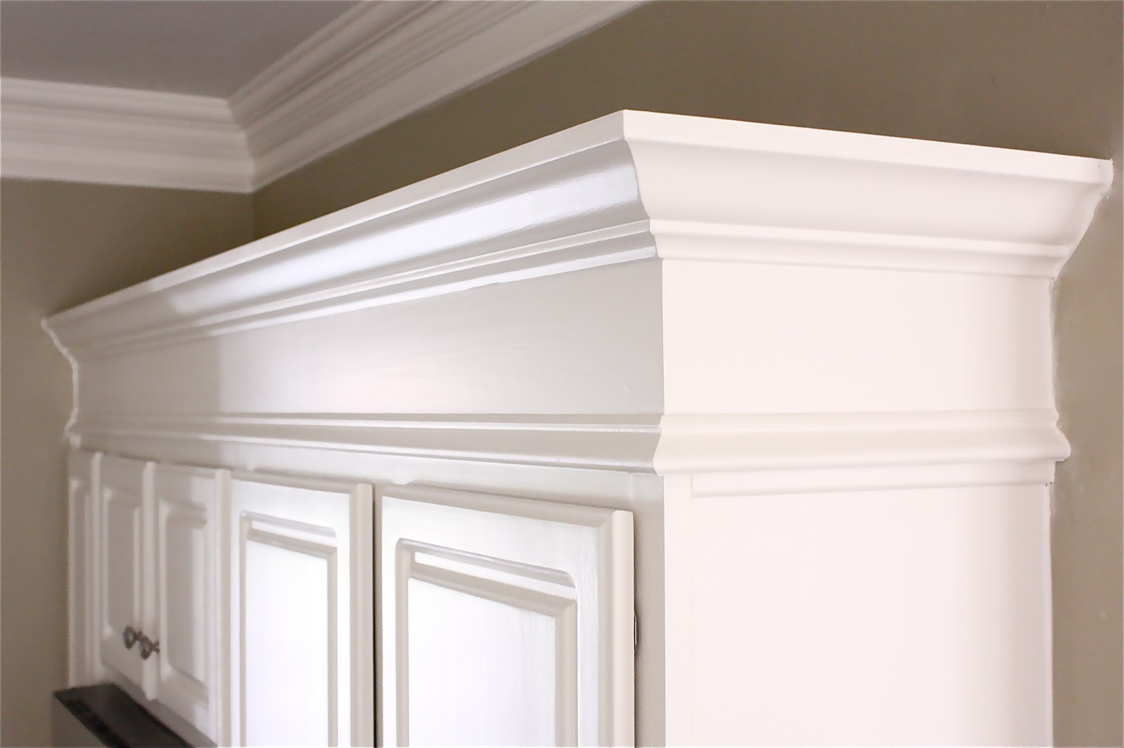 Installing Kitchen Cabinet Crown Molding The Yellow Cape Cod Making Cabinets Taller Builder