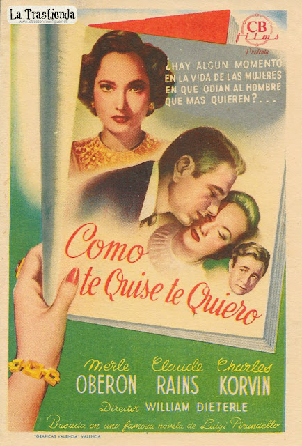 Como Te Quise Te Quiero - Programa de Cine - Merle Oberon - Claude Rains