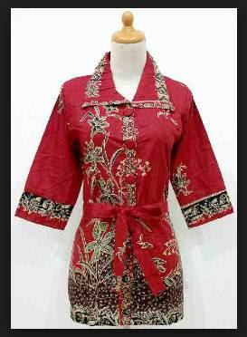 Model terbaru baju kerja batik wanita