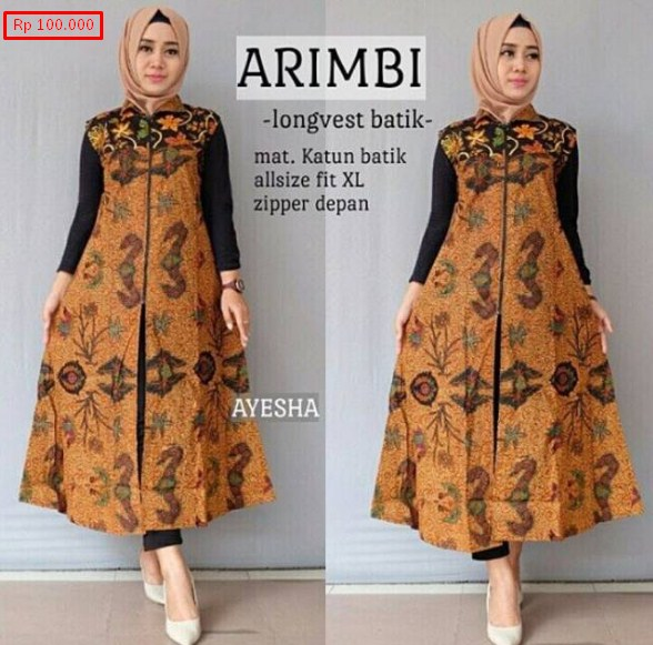 Model Baju Muslim Gamis Batik: 77 Model Baju Batik Muslim 2019: Modern Terbaru Remaja