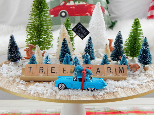 Vintage-inspired Mini Christmas Tree Farm