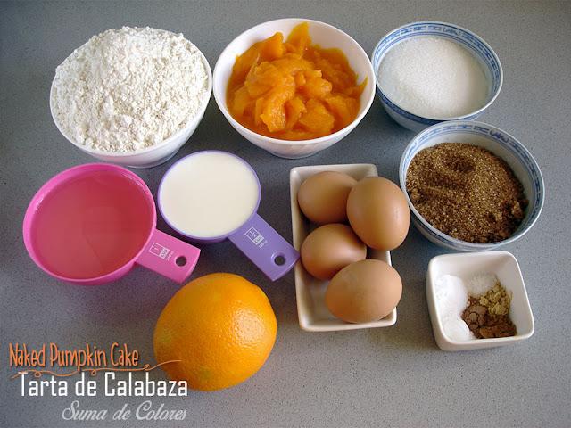 Tarta-desnuda-calabaza-Ingredientes-bizcocho