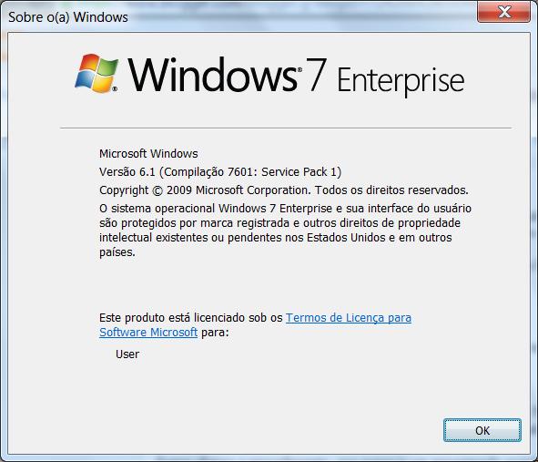 Winver - Windows 7 Enterprise