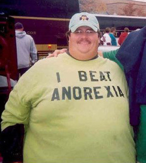 'I BEAT ANOREXIA' T-shirt