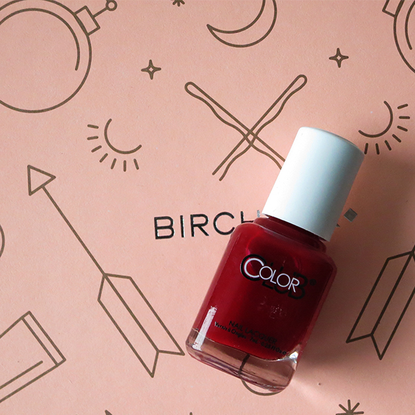 February 2016 Birchbox Color Club vegan cruelty-free nail polish lacquer in deep red