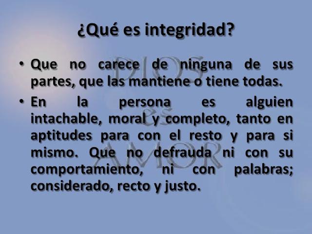 """""""Integridad"""""""