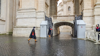 Swiss guards look ridiculous