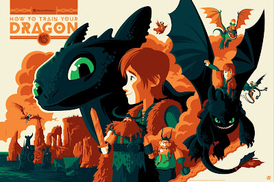 How To Train Your Dragon Screen Print by Tom Whalen x Mad Duck Posters
