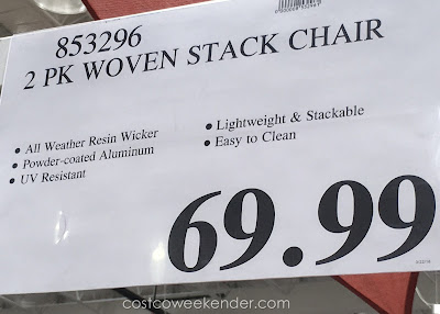 Costco 853296 - Deal for the Woven Stack Chair at Costco