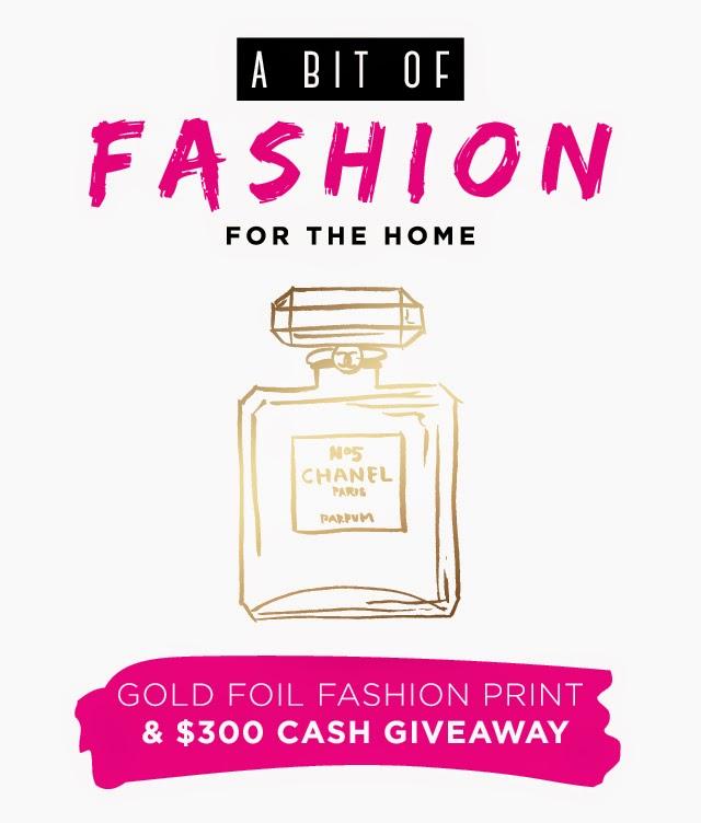 Banner1 Glam Decor: Gold Foil Fashion Prints + $300 Giveaway!