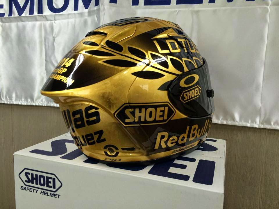 racing helmets garage shoei x spirit ii m m rquez world champion motogp 2014 by drudi. Black Bedroom Furniture Sets. Home Design Ideas