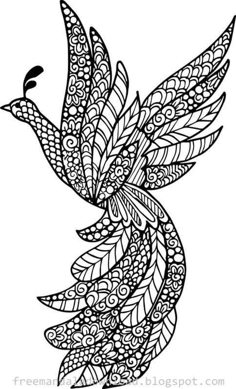 Vogel Mandala Design Download Pdf Bird Case