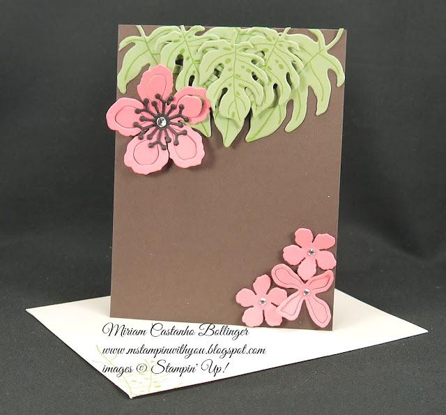 Miriam Castanho-Bollinger, #mstampinwithyou, stampin up, demonstrator, dsc, all occasions card, botanical blooms bundle, big shot, su