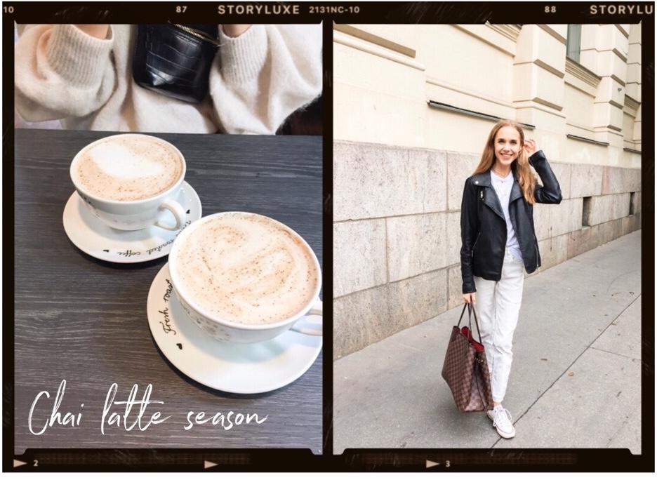 chai-latte-roberts-coffee-minimal-chic-outfit-fashion-blogger-monochrome-mustavalkoinen-asu-muotiblogi-helsinki