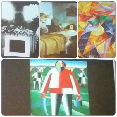 Foto di alcune opere illustrate dal Critico Carlo Pepe