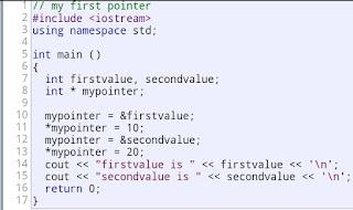 Contoh Program Pointer Pada C++