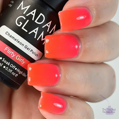 madam glam flirty girl swatch