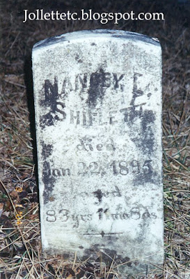 Tombstone of Nancy Elizabeth Frazier Shiflett Lacey Springs, Rockingham Co, Virginia  http://jollettetc.blogspot.com