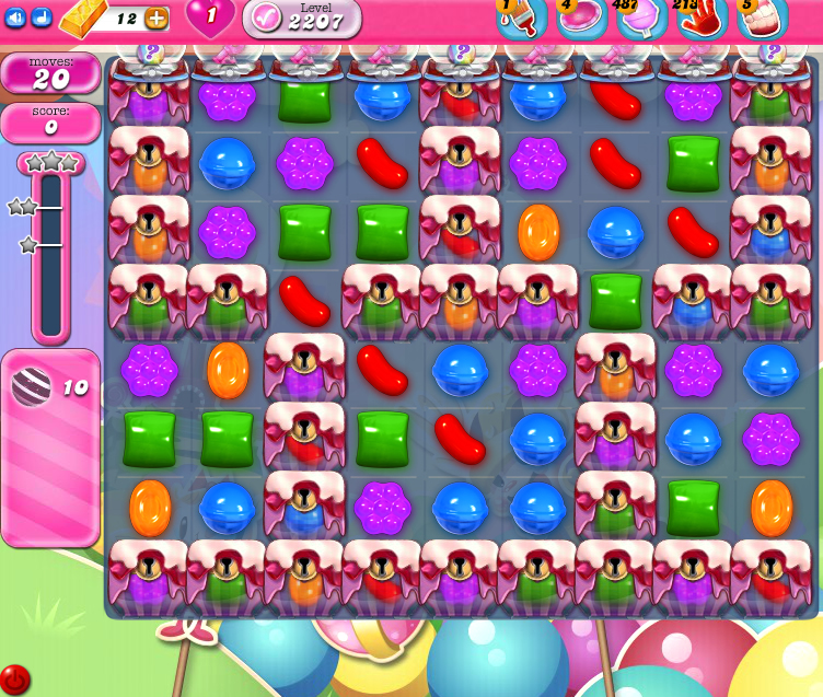 Candy Crush Saga level 2207