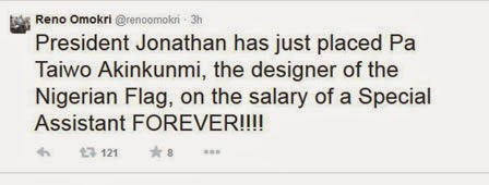 Nigerian flag designer, Pa. Akinkunmi Place on 'Life Salary'