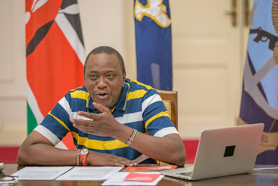 Uhuru Kenyatta online. PHOTO   Courtesy