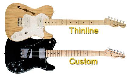Características de las Guitarras Eléctricas Thinline y Custom Telecaster
