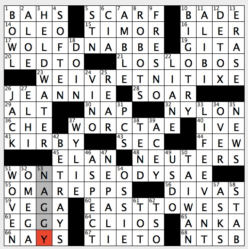 Rex Parker Does the NYT Crossword Puzzle: Actress Balaban of