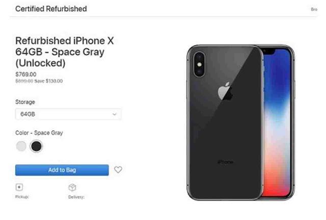 Cheaper, Apple Sells Official iPhone X Refurbish