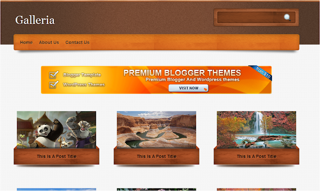 Galleria Wordpress and Blogger Theme Template