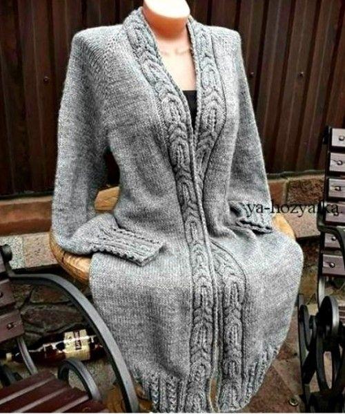 sweter na drutach tutorial