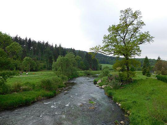 Trzcińsko. Rzeka Bóbr.
