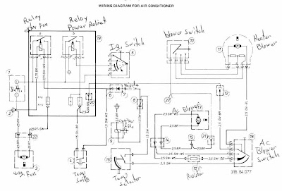 BMW 320i 19771979 Air Conditioning Wiring Diagram | All