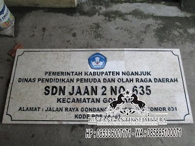 Prasasti Peresmian Kantor Desa, Papan Nama Sekolah, Prasasti Granit