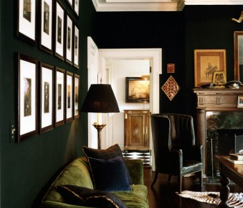 Dark Green Living room by Todd Yoggy