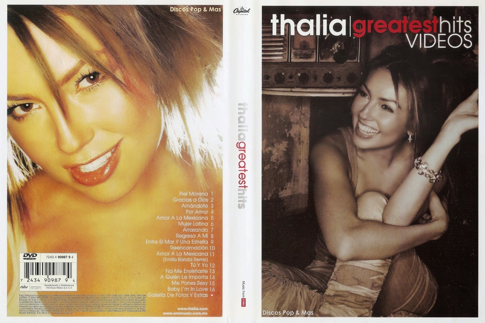 dvd thalia greatest hits
