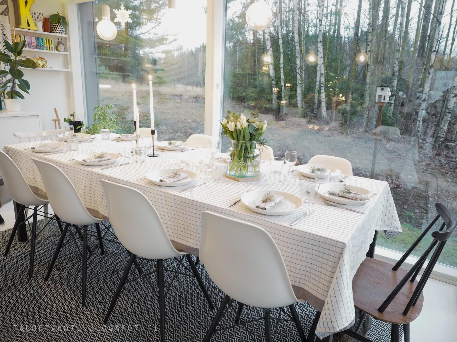 joulupöytä, kattaus, keittiö