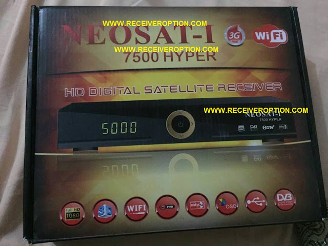 NEOSAT-I 7500 HYPER HD RECEIVER BISS KEY OPTION