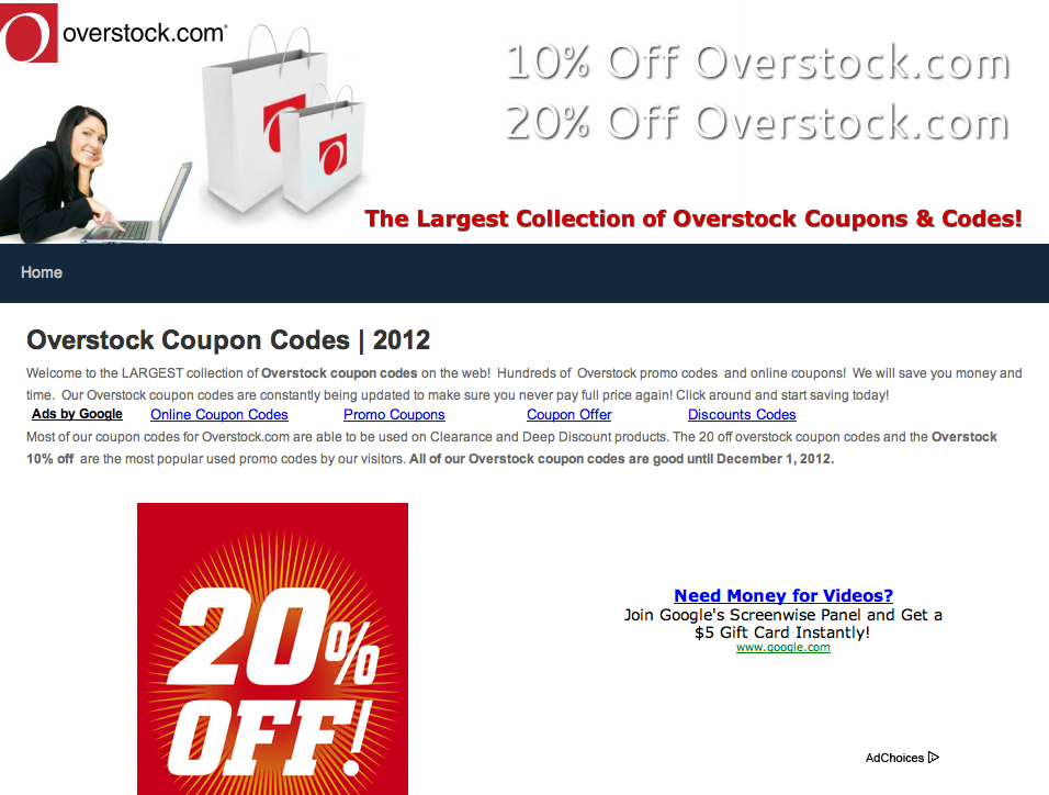 Overstock Coupon Codes & Promo Codes
