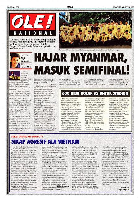 PIALA TIGER 1998 TIMNAS INDONESIA