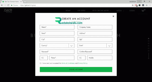 Cara Mendapatkan Domain TLD .Tech Gratis dari GetTech dengan Email Edu